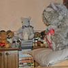 Al de andere beertjes hebben plaats moeten ruimen voor de kerst-versiering!
