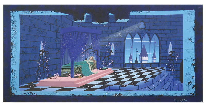 Eyvind Earle Painting for Sleeping Beauty Castle Walkthrough