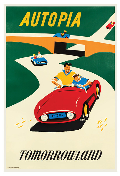 Autopia Attraction Poster