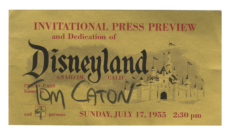 Disneyland Opening Day Gold VIP Ticket
