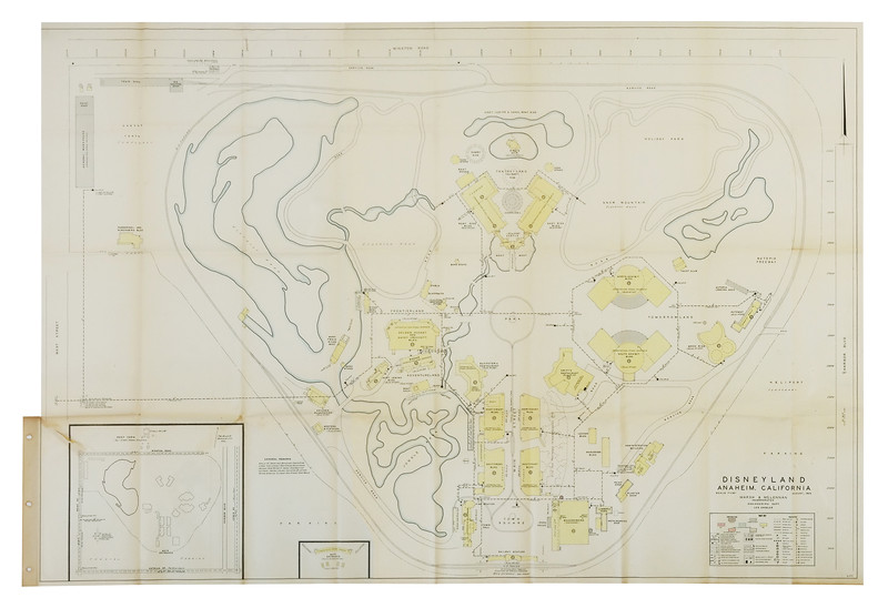 1955 Disneyland Plot Plan