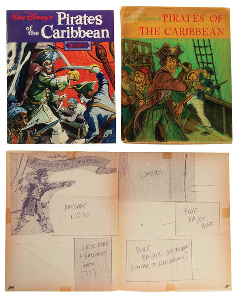 Mock-up for Pirates of the Caribbean Souvenir Guidebook