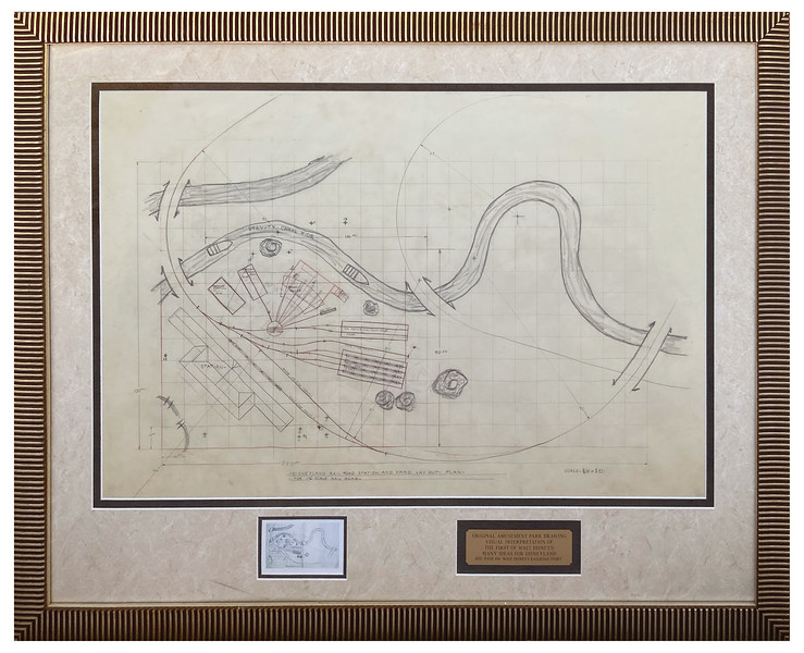 Lot 306 Original Mickey Mouse Park Early Disneyland Concept