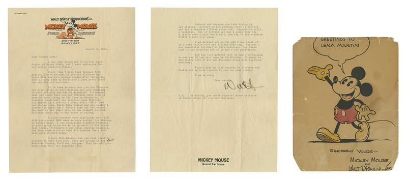 Lot 6 1931 Walt Signed Letter on Studio Stationery