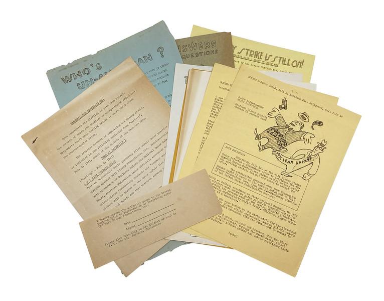 Lot 67 1941 Walt Disney Studios Animators Strike Archive a