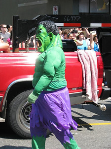 HULK STROLL!!  Worst Hulk costume ever, and I've never seen one that was good.
