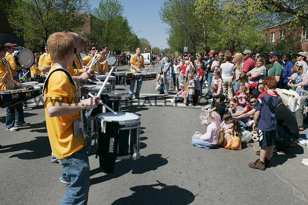 Groove plays for the crowd during the 2006 Veishea Parade on Saturday, April 22, 2006.