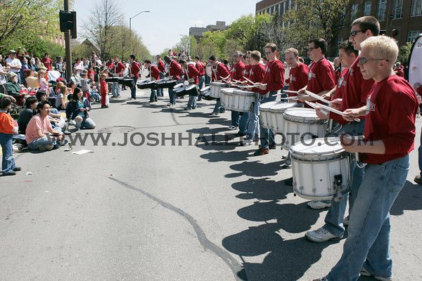 The Groove Alumni play for the crowd during the 2006 Veishea Parade on Saturday, April 22, 2006.