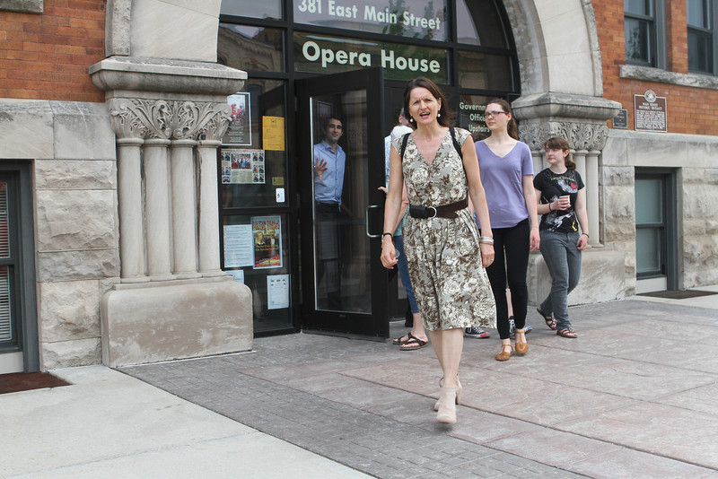 The Opera House tour is over and it's time to wander back to Oak Street.