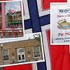 Norwegian food and flags everywhere - it's a good time to be in Stoughton.