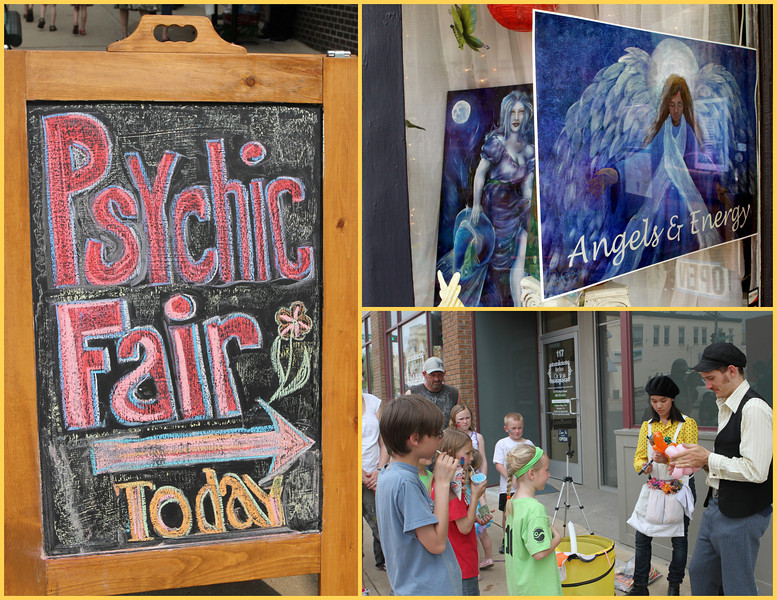 Take your choice - Psychic Fair, Angels & Energy or balloon artists - and there's more.
