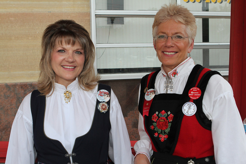 If you have any questions about Syttende Mai asked the women in the Information Booth.