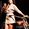 P5075213<br /> Annie Alvarez - daytime look with a custom-made bike from College Cyclery. Audrey Wells emceed the show