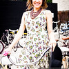 P5075071<br /> Jenna Lee before the show with a floral dress from Heart Boutique