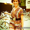 P5075061<br /> Tricia Hedahl<br /> before the show in a Navajo print romper from Sugar Shack