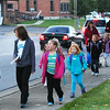 Diane Raver | The Herald-Tribune<br /> Over 350 kids, as well as some school administrators, teachers and parents, walked from Liberty Park to their schools.