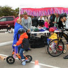 Debbie Blank | The Herald-Tribune<br /> Thursday's event took place downtown in the parking lot behind Christian's Kinder Laden in between East Pearl and George streets, where a small park with bike racks, benches and a fountain will be constructed soon.