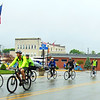 Debbie Blank | The Herald-Tribune<br /> Between 50-100 participated in the third annual Vélo in the Ville. Its purpose is to promote Batesville, plus health and wellness. The day started out misty with intermittent rain.