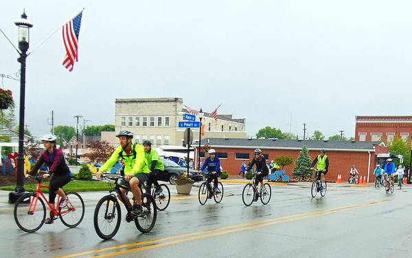 Debbie Blank   The Herald-Tribune Between 50-100 participated in the third annual Vélo in the Ville. Its purpose is to promote Batesville, plus health and wellness. The day started out misty with intermittent rain.