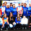 Debbie Blank | The Herald-Tribune<br /> Liz Kellerman (standing fifth from right), one of Vélo in the Ville's founders and St. Andrews Health Campus community service representative, is surrounded by other volunteers. In addition to St. Andrews, the May 21 event was sponsored by the city, Batesville Main Street, Batesville Area Chamber of Commerce, Southeastern Indiana YMCA, Margaret Mary Health and its foundation, where proceeds will be given.
