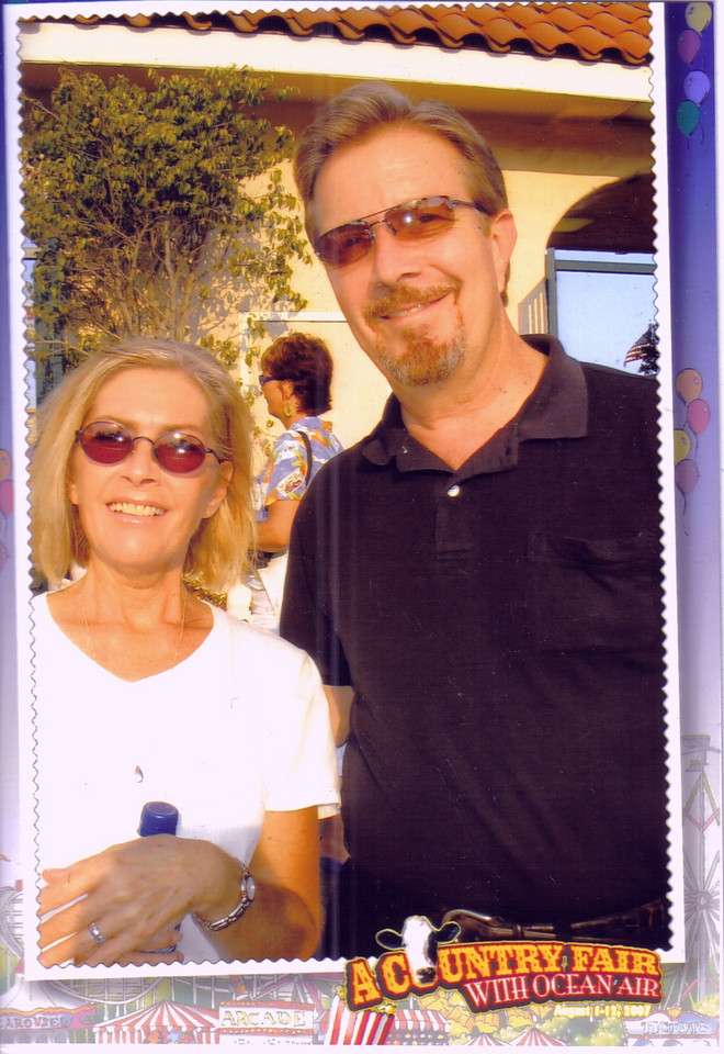 On Aug 8, 2007 my sister, Marianne Lake, in from Las Vegas, and  I went to the Beach Boys concert at the Ventura county fair.  Hadn't planned to go, so we didn't have the camera with us.  Result, just one pic of the memories of that day, taken by a cute fair vendor as we entered the fair.<br /> <br /> It was a fun concert and the focus wasn't on being the picture taker.   Stuffed ourselves on carnival foods and enjoyed dancing to live bands and the midway carnival rides.<br /> <br /> Marianne didn't do the tower bungee jump, but she did think about it.