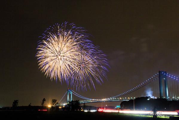 Verrazano Bridge Fireworks