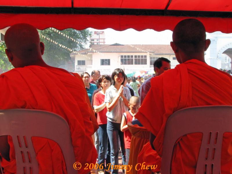 In between 2 monks