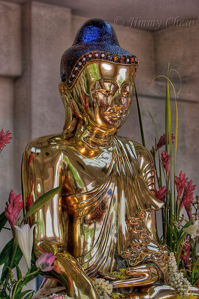 Liquid metal Buddha.