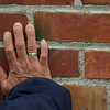 Hand on a wall, Wheeler Theater<br /> Fort Worden State Park