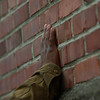 Hand on a wall.<br /> Wheeler Theater, Fort Worden State Park