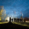 Record-Eagle/Jan-Michael Stump<br /> More than 100 people were on hand for Thursday's Veterans Day ceremony at the new Grand Traverse Veterans Memorial Park in Traverse City. The memorial itself was recently moved to the park from its former location just off Grandview Parkway.