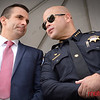 Mayor San Liccardo (L) with San Jose Police Chief Eddie Garcia