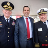 San Jose Mayor Sam Liccardo (C) with parade Grand Marshall Admiral Copeland (R) and General Ostenberg (L)
