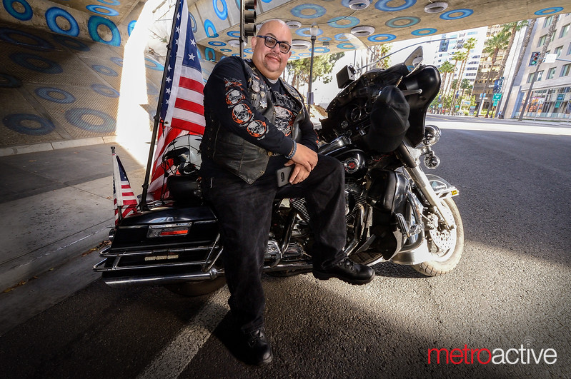 Road Captain Efren Ayala leads the charge for the Patriot Guard