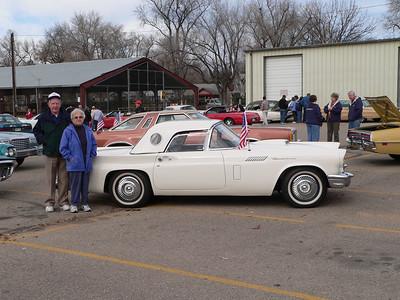 Elmer and Edna Mae Hunter with their 1957 Ford Thunderbird
