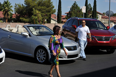 "The young lady in this photograph is Susan Leong, top salesperson at Lexus of Las Vegas. Susan was at Via Brasil  Sunday to show the Lexus cars and create excitement about the new 2010 Lexus. How is it, the new models always look better than last years? If you can't crack the safe, then you are going to have to come up with $43,000 and buy your own Lexus, which would make Susan very happy. I always recommend using ww.KBB.com and their incredible TMC pricing machine.  ""Via Brasil Steakhouse"" in Summerlin Las Vegas with ISVodka presents Lexus Car Giveaway. This beautiful Lexus IS Convertible worth $43,000 can be won by entering a 5-digit number of your choice. If your number wins, the safe opens and the keys to the Lexus IS Convertible are yours! The contest continues next weekend on Sunday July 19 at Via Brasil. See Nicole for Details."