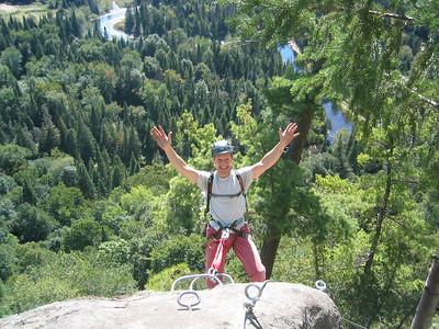 Look! No Hands! Via ferrata du Diable, park national du Mont-Tremblant