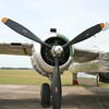 One of two engines on the B-25