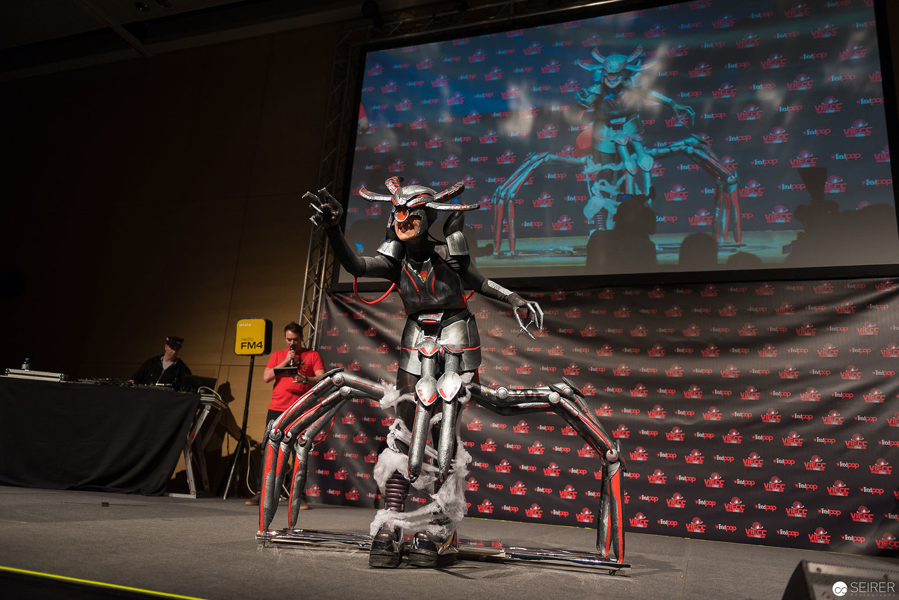 Vienna ComicCon Cosplay Contest 2016 - Grim Weaver Arachne from SMITE (Moba Game) / Armor, Cosplay: TschuleSmash