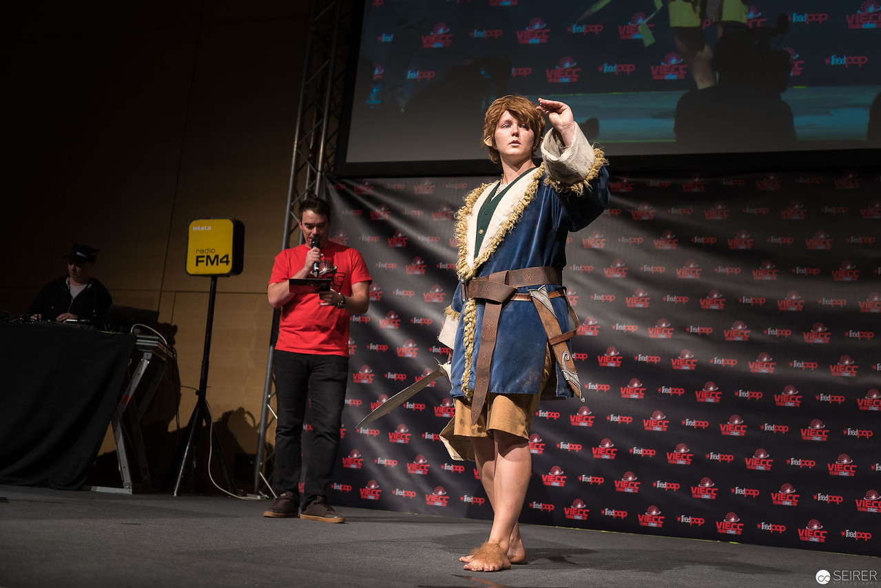 Vienna ComicCon Cosplay Contest - Bilbo Baggins from The Hobbit / Needlework, Cosplay: Dei