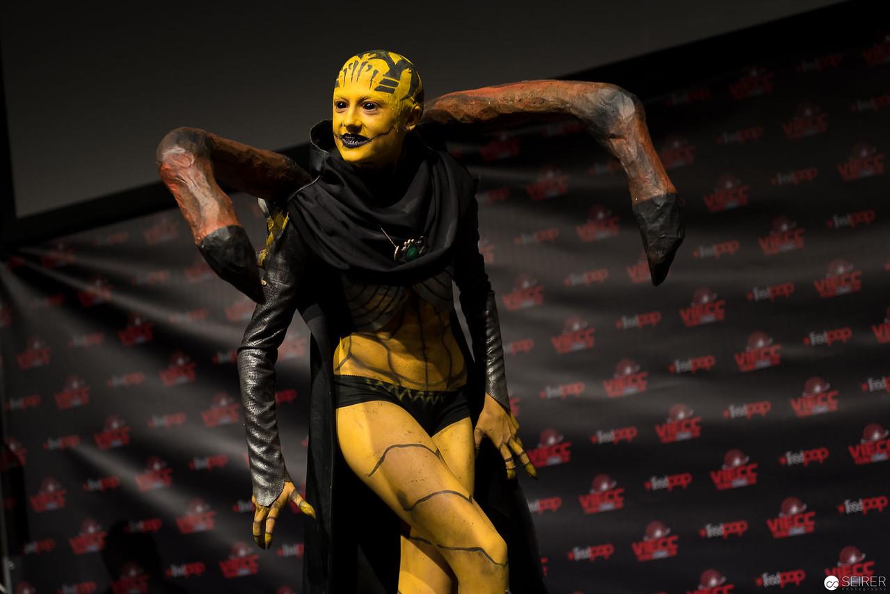Vienna ComicCon Cosplay Contest 2016: D'Vorah from Mortal Kombat X / FX, Cosplay: Hong-chan
