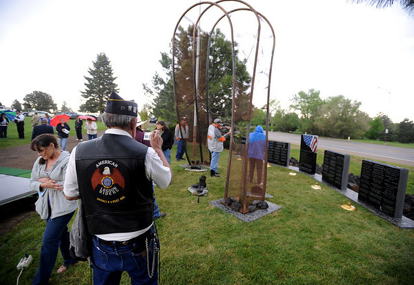 "The Vietnam Memorial Arch, honoring Boulder County military members who lost their lives in Vietnam, was dedicated in a ceremony at Mountain View Cemetery in Boulder on May 29th, 2010.<br /> For more photos, go to  <a href=""http://www.dailycamera.com"">http://www.dailycamera.com</a>.<br /> Cliff Grassmick / May 29, 2010"
