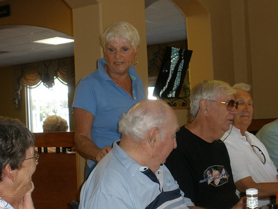 Delores Becker, coordinator, at the lunch