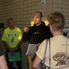 Pastor Nate giving instructions to team leaders