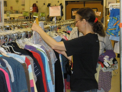 Wendy heping a customer