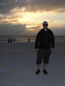 Jeffrey and the Gulf Coast sunset