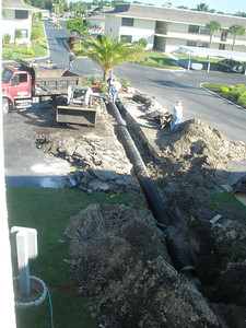 Laying the new pipe