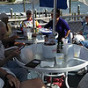 Group doing lunch on deck of The Pub:<br /> Mike, Matt, Delores, Gitta, Reenie, Vadis, Kathy; partially hidden from picture: Phil and Julia