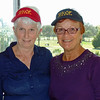 Kathy and Vadis with Can-Am caps