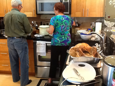 Dwaine and Vadis in kitchen